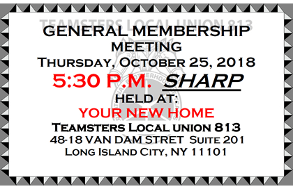 General Membership Meeting on 10/25/2018